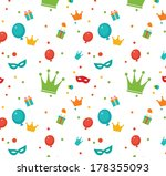 party background with presents...