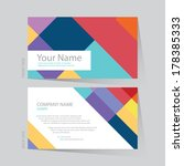 business card abstract... | Shutterstock .eps vector #178385333