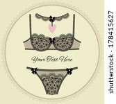 collection of vintage lingerie... | Shutterstock .eps vector #178415627