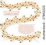 autumn floral background | Shutterstock .eps vector #17842222