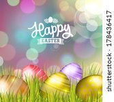 easter bokeh background with... | Shutterstock . vector #178436417