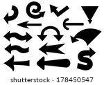 set of black  arrows. raster... | Shutterstock . vector #178450547