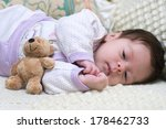 cute funny infant baby with toy ... | Shutterstock . vector #178462733