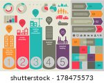 flat ui design eco city... | Shutterstock .eps vector #178475573