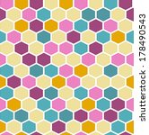 the geometric background made... | Shutterstock .eps vector #178490543