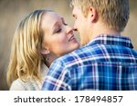 young caucasian adult couple... | Shutterstock . vector #178494857
