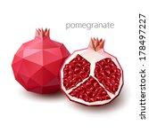 polygonal fruit   pomegranate.... | Shutterstock .eps vector #178497227