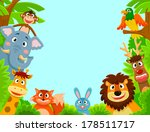 adorable,animals,background,bird,bunny,cartoon,characters,cheerful,collection,copy space,creatures,cute,deer,design,elephant