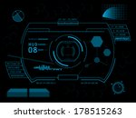 sci fi futuristic user... | Shutterstock .eps vector #178515263