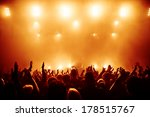 silhouettes of concert crowd in ... | Shutterstock . vector #178515767