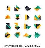 arrow business geometric... | Shutterstock . vector #178555523