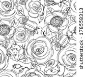 seamless floral pattern. black... | Shutterstock .eps vector #178558313
