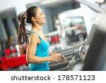 image of fitness girl running...   Shutterstock . vector #178571123