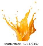 Orange Juice Splash Isolated O...