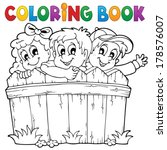 coloring book children theme 1  ... | Shutterstock .eps vector #178576007
