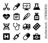 medical icons set | Shutterstock . vector #178582853