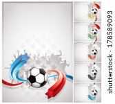 abstract soccer background | Shutterstock .eps vector #178589093