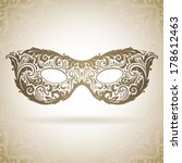 vintage ornamental mask.... | Shutterstock .eps vector #178612463