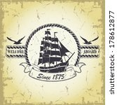 stamp with a nautical theme | Shutterstock .eps vector #178612877