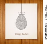 easter card with one big... | Shutterstock .eps vector #178634063