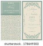 wedding invitation cards ... | Shutterstock .eps vector #178649303