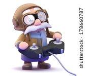 3d pilot plays a videogame | Shutterstock . vector #178660787