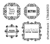 set of vintage ornate frames.... | Shutterstock .eps vector #178668053