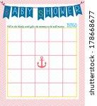 baby shower bingo game template ...   Shutterstock .eps vector #178668677