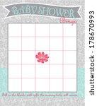 baby shower bingo game template ...   Shutterstock .eps vector #178670993