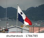 the panama flag on the panama... | Shutterstock . vector #1786785