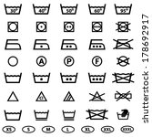 icon set of laundry symbols | Shutterstock .eps vector #178692917