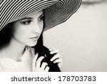 portrait of beautiful young...   Shutterstock . vector #178703783