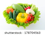 fresh vegetables | Shutterstock . vector #178704563