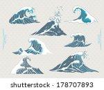 waves | Shutterstock .eps vector #178707893