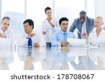 global business meeting with... | Shutterstock . vector #178708067