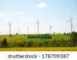 eco power  wind turbines | Shutterstock . vector #178709387