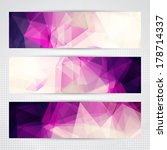 elegant banners with light and... | Shutterstock .eps vector #178714337