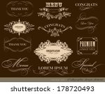 calligraphic design elements... | Shutterstock .eps vector #178720493