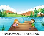 illustration of a young girl... | Shutterstock .eps vector #178733207