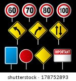 set of traffic sign  | Shutterstock . vector #178752893