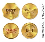 golden metal badges | Shutterstock .eps vector #178764737