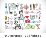 medical icon set  idea  | Shutterstock .eps vector #178788653
