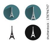 eiffel tower icon   Shutterstock .eps vector #178796747