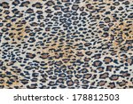 fabric with a leopard pattern... | Shutterstock . vector #178812503