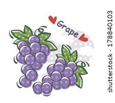 two bunch of grapes isolated... | Shutterstock . vector #178840103