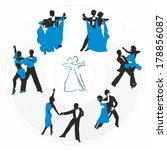 couples dancing on the...   Shutterstock .eps vector #178856087