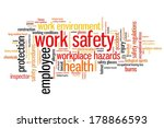 work safety issues and concepts ... | Shutterstock . vector #178866593