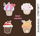 cute cupcakes | Shutterstock .eps vector #178873877