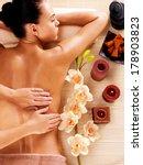 masseur doing massage on woman... | Shutterstock . vector #178903823