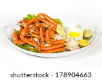 Crab Legs With Fresh Lemon...